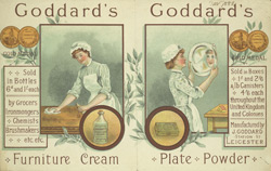 Advert for Goddard's Cleaning Materials